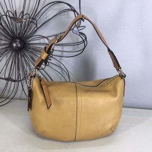 Coach Soho Tan Leather Hobo Shoulder Bag Purse